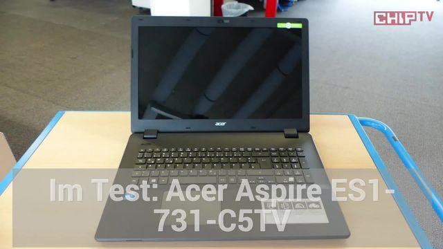 Acer Aspire ES1-731-C5TV: Eindrücke aus dem Testlabor