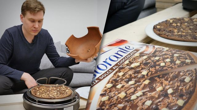 Schokoladenpizza von Dr. Oetker - so schmeckt sie
