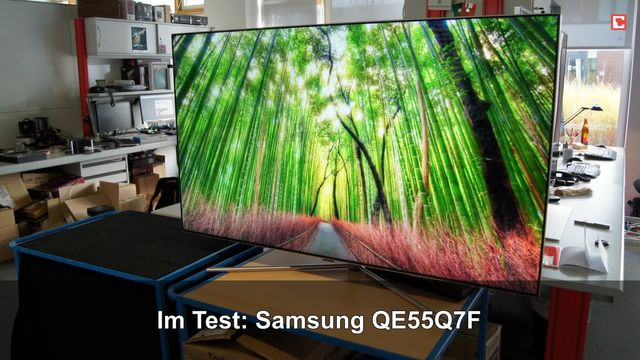 Samsung QE55Q7F: Eindrücke aus dem Testlabor