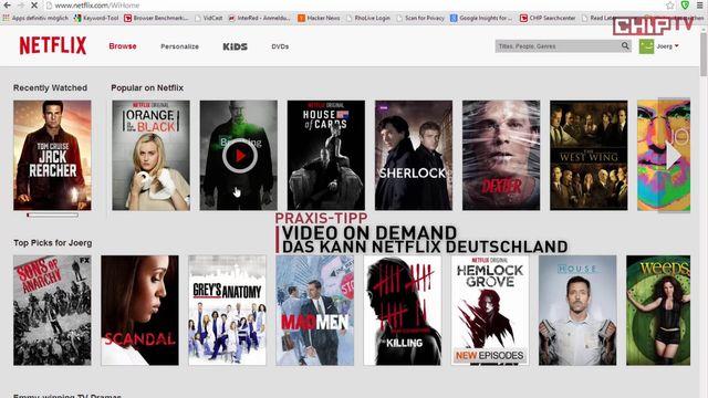 Netflix in Deutschland verfügbar
