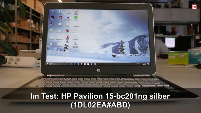 HP Pavilion 15-bc201ng silber