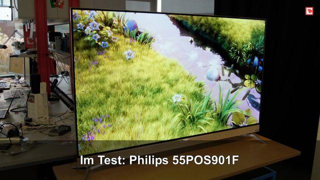 Philips 55POS901F: Eindrücke aus dem Testlabor