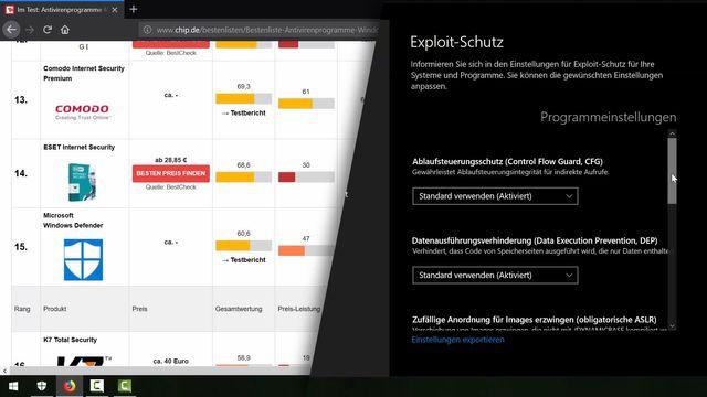 Windows Defender im Virenscanner-Test