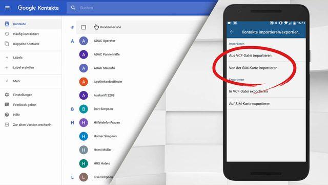 Android Kontakte synchronisieren