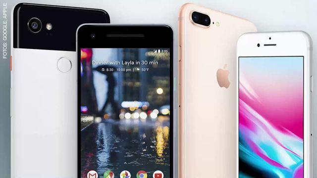 iPhone 8 gegen Pixel 2 (XL)