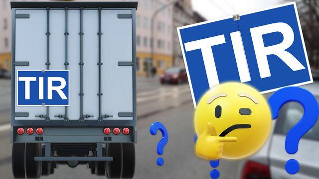 TIR-Kennzeichen an LKWs: Bedeutung