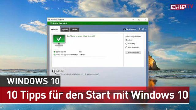 10 Dinge, die Sie nach dem Start tun sollten - Windows 10