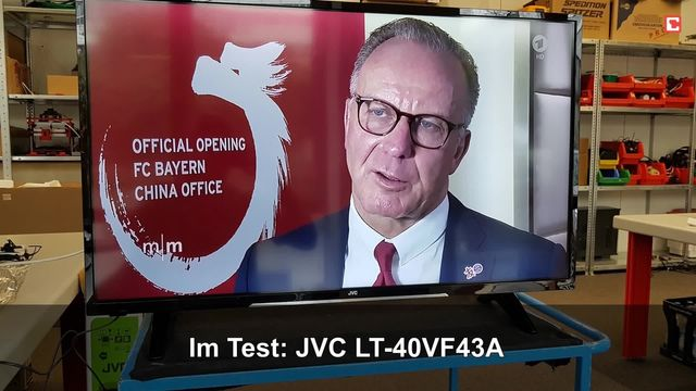 JVC LT-40VF43A: Eindrücke aus dem Testlabor