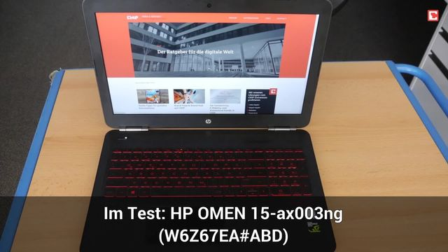 HP - OMEN 15-ax003ng (W6Z67EA#ABD): Eindrücke aus dem Testlabor