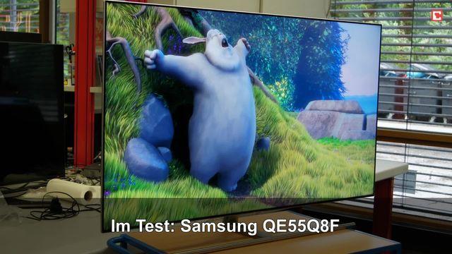 Samsung QE55Q8F: Eindrücke aus dem Testlabor