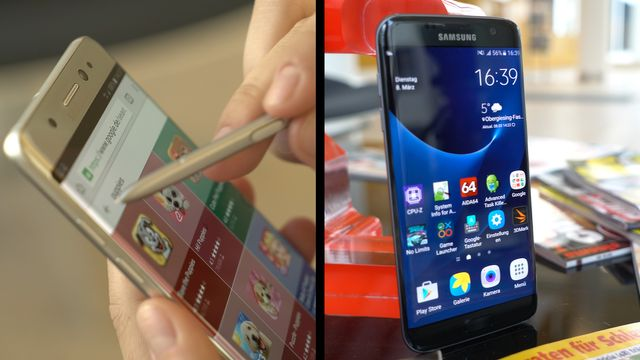 Samsung Galaxy Note 7 vs. Galaxy S7 Edge - Handy-Duell