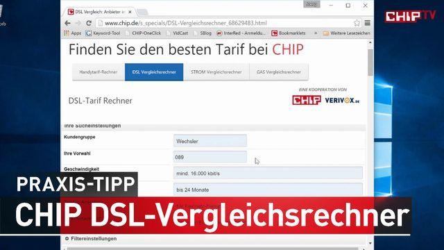 CHIP DSL Vergleichsrechner - So finden Sie den besten DSL-Tarif