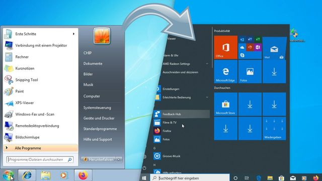 Windows 7 auf Windows 10 upgraden