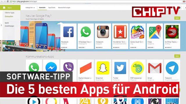 Die 5 besten Android Apps - Software-Tipp