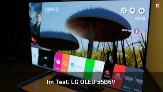 LG OLED 55B6V: Eindrücke aus dem Testlabor