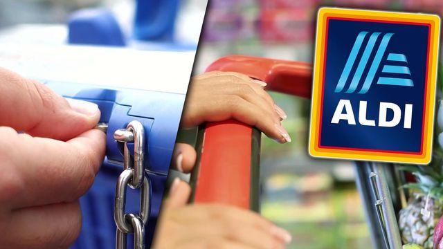 Aldi warnt vor Einkaufswagen-Trick