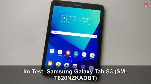 Im Test: Samsung Galaxy Tab S3 (SM-T820NZKADBT)