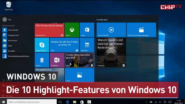 Windows 10: Zehn Killer-Funktionen, die Sie kennen müssen