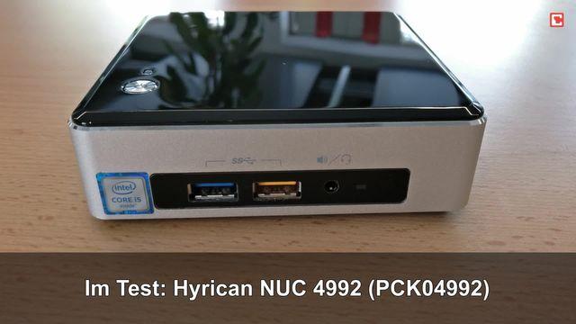 Hyrican NUC 4992 (PCK04992): Eindrücke aus dem Testlabor