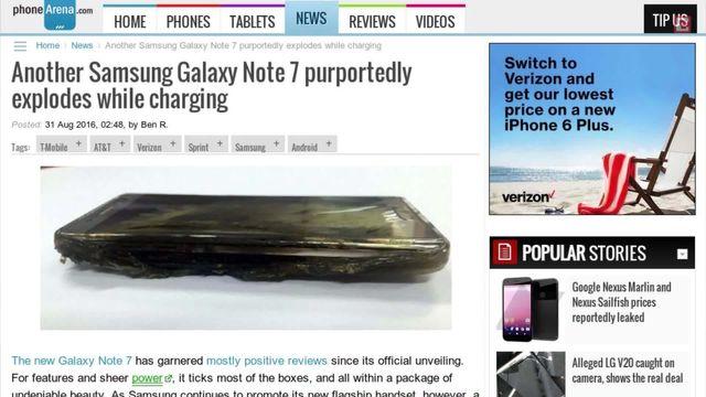 Samsung zieht die Reißleine: Galaxy Note 7 unter Explosions-Verdacht