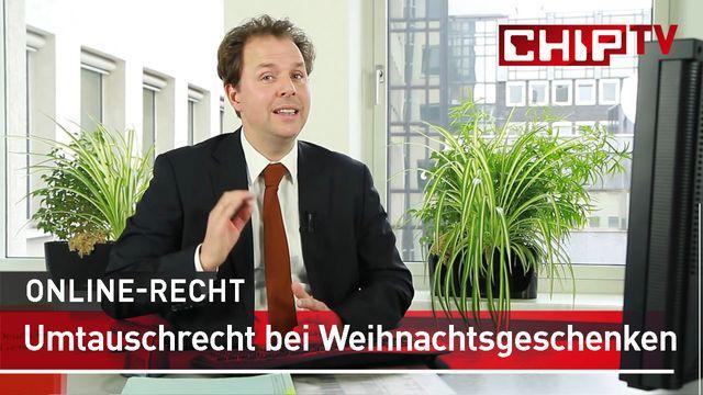 Umtauschrecht bei Weihnachtsgeschenken - Rechtsanwalt Solmecke klärt auf
