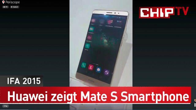 Huawei : Smartphone Mate S im ersten Hands-on