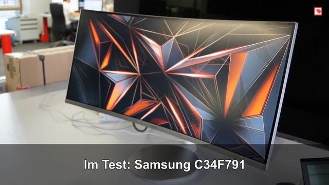 Samsung C34F791: Eindrücke aus dem Testlabor