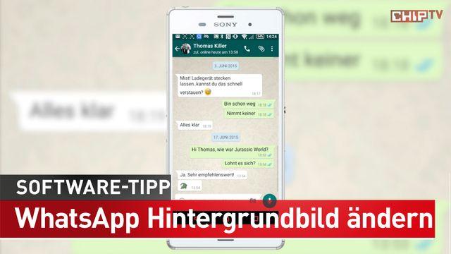 WhatsApp Hintergrundbild ändern - Software-Tipp
