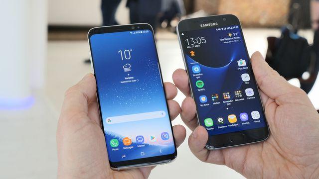 Handy-Giganten im Vergleich: Samsung Galaxy S8 vs. Galaxy S7