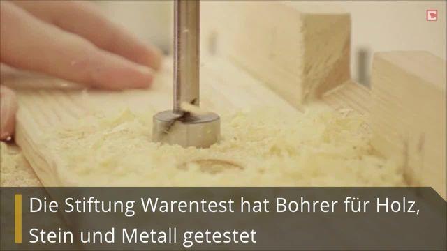 Bosch bohrt besser: Bohrer bei Stiftung Warentest