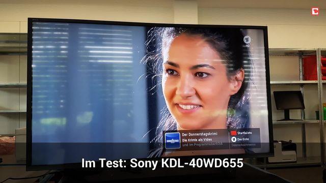Sony KDL-40WD655: Eindrücke aus dem Testlabor