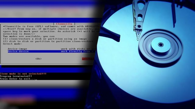 Festplatte kostenlos klonen: Clonezilla
