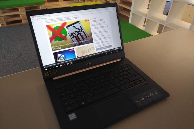 Acer Swift 5 SF514-52T-59HY im Test: Es wiegt nur 930 Gramm
