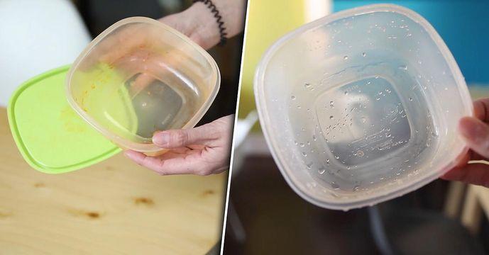 Verfärbte Tupperware: So wird sie wieder sauber