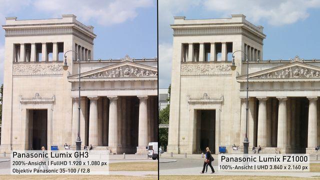 4K-Vergleich - Panasonic FZ1000 vs. Lumix GH3