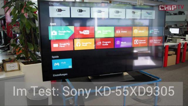 Sony KD-55XD9305: Aufnahmen aus dem Labor